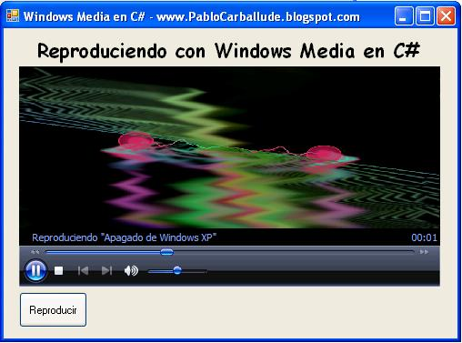 Reproducir música (mp3, ogg…) y vídeo (avi, divx, mpeg…) en C# ...